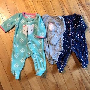 Lot of newborn clothes, jumper, onesie, fleece